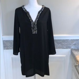 Black bathing suit cover up. Never worn